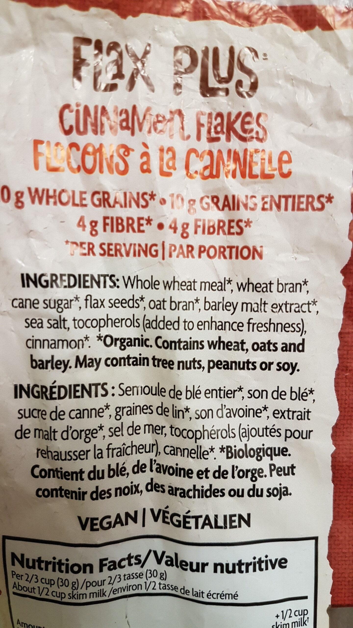 Céréales Biologiques (cannelle) - Ingredients - en