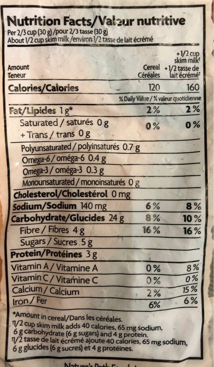Céréales Biologiques (cannelle) - Informations nutritionnelles - fr