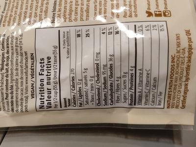 Organic Granola - Dark Chocolate Macaroon - Voedingswaarden - fr