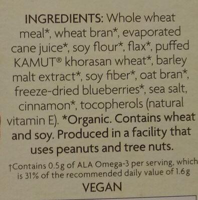 Organic optimum power blueberry cinnamon flax - Ingredients - en