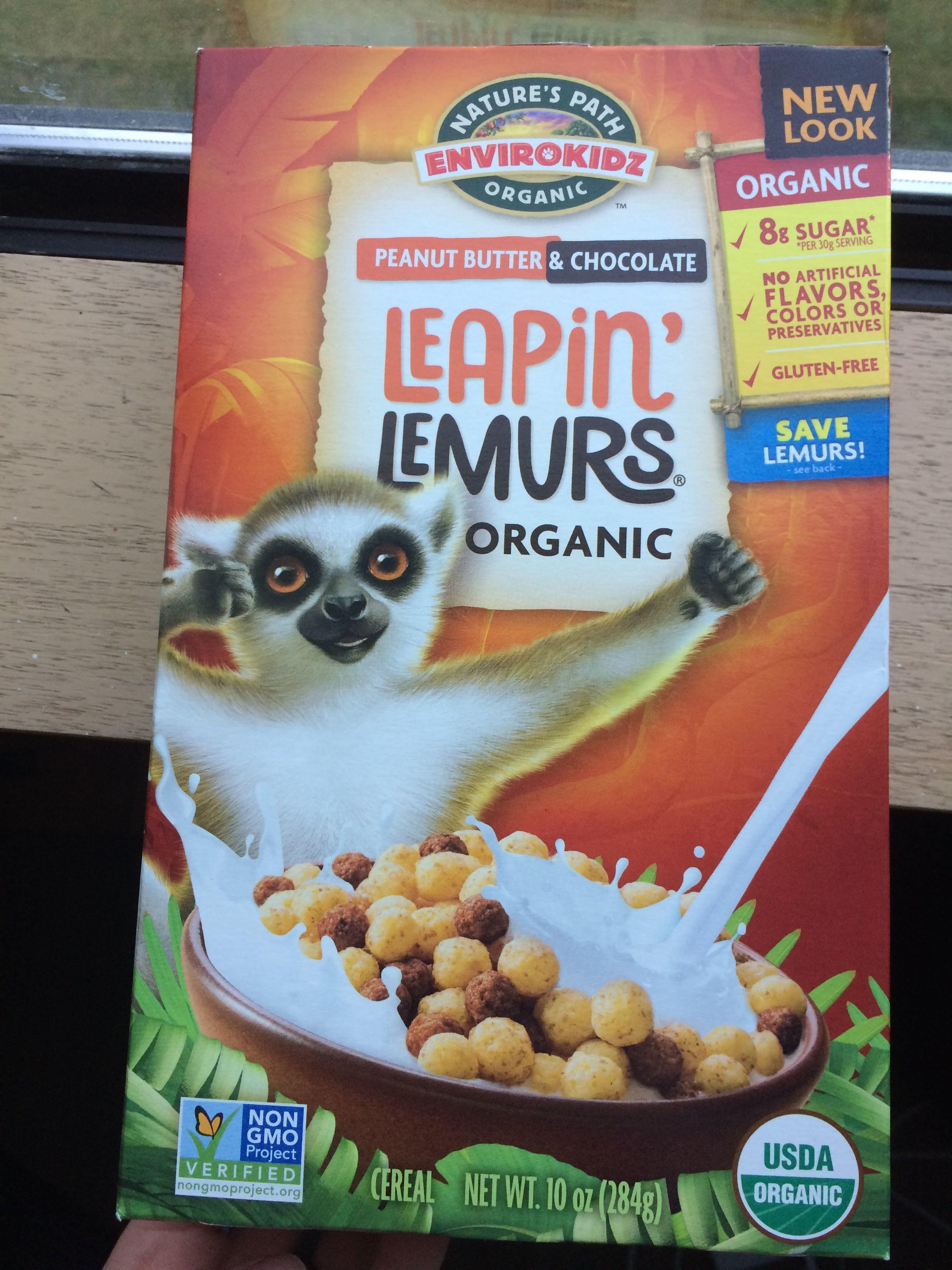Peanut Butter Leapin' Lemurs Cereal - Product - en