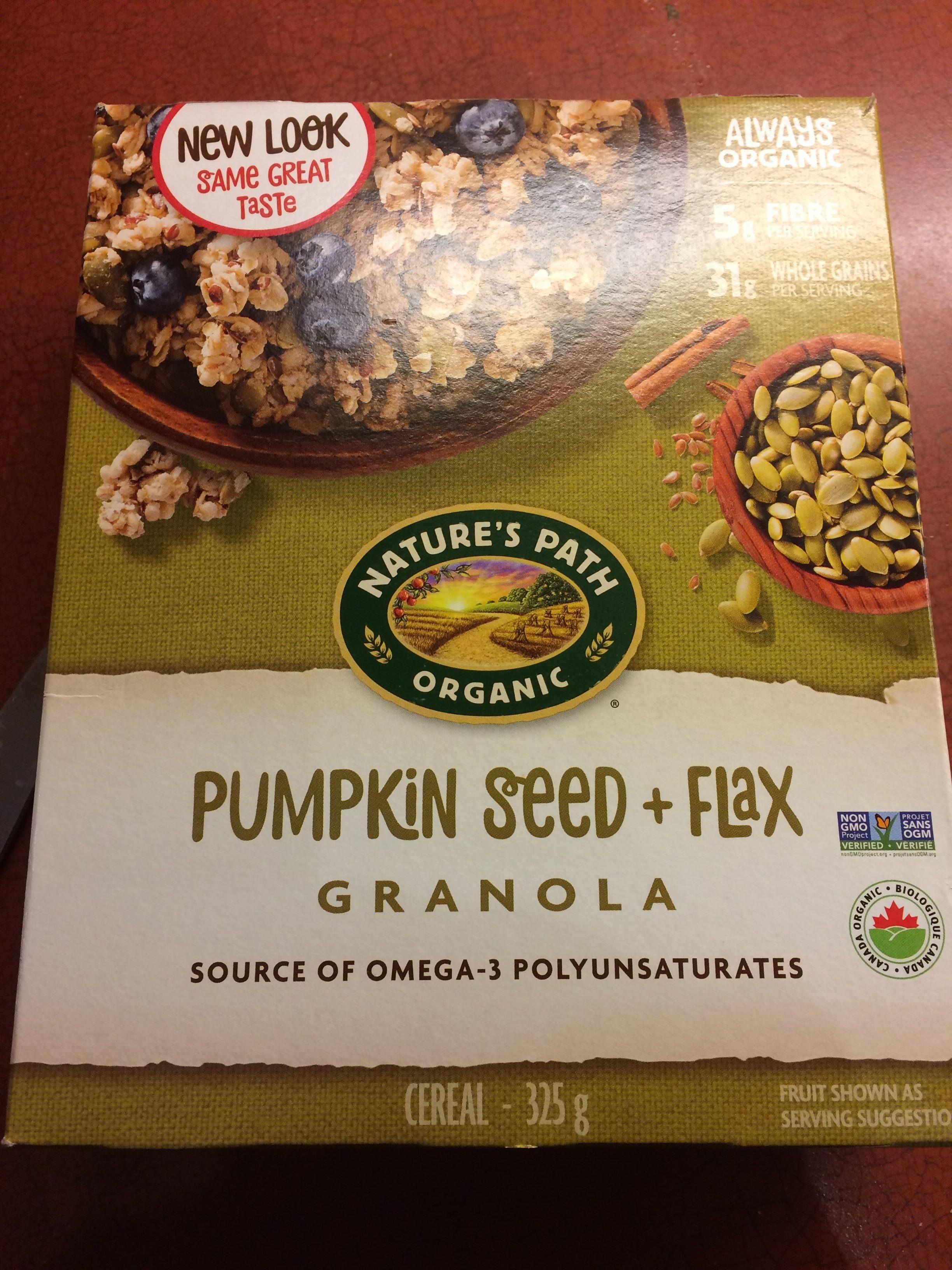 Flax Plus, Organic Granola Cereal, Pumpkin - Product