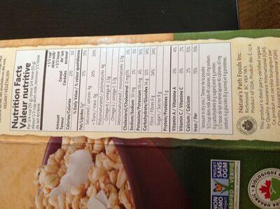 Granola noix de coco et chia - Voedigswaarden