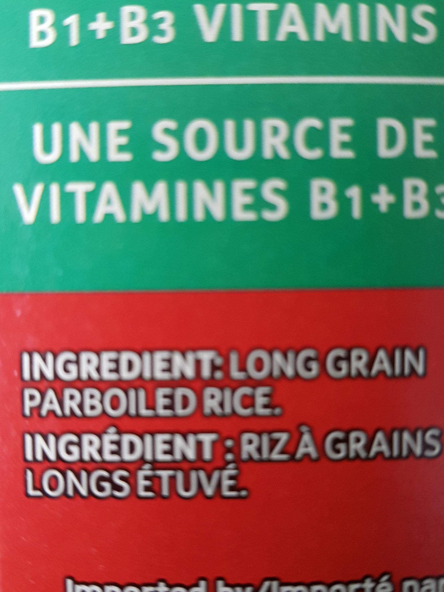 Riz a long grains - Ingredients