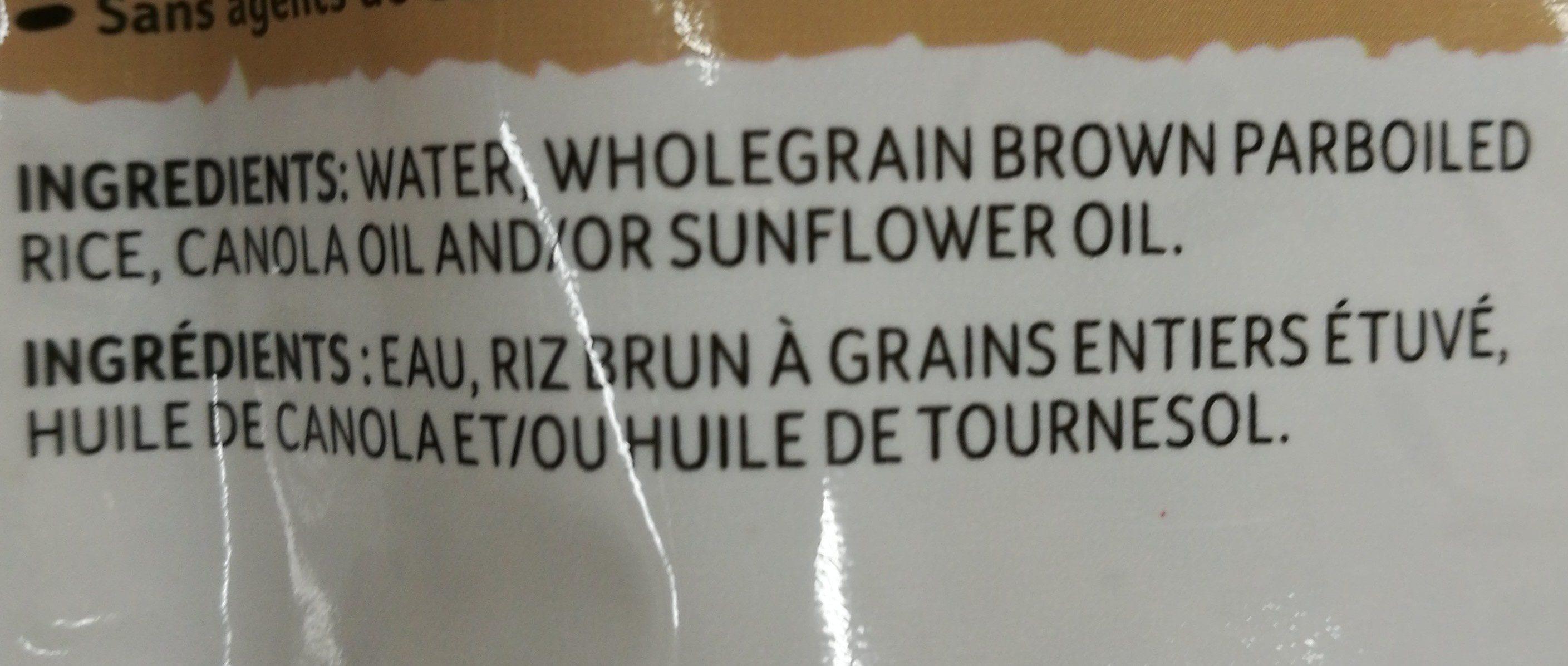 Bistro Express bruns à grains entiers - Ingrédients - fr