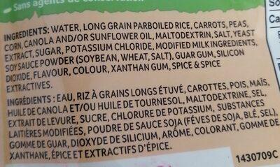 Riz au légumes - Ingrédients - fr