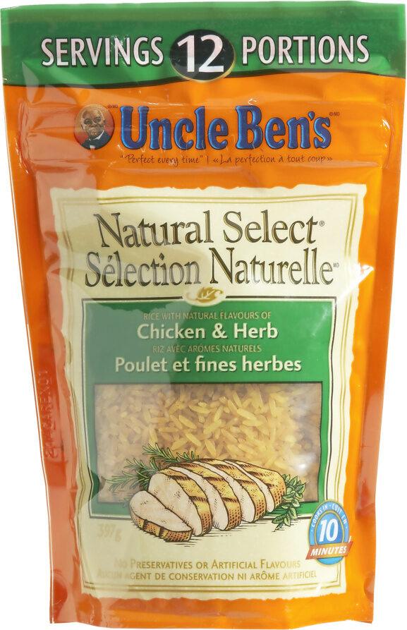 Riz Sélection Naturelle (poulet Et Fine Herbe ) - Produit - fr
