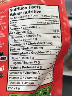 M & M'S M & M'S Peanut Butter Chocolate Candies Bowl - Informations nutritionnelles - fr