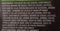 Milk Chocolate Bar with Minis - Ingrédients - fr