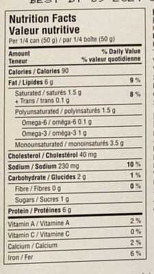 Herring Fillets in Paprika Sauce - Nutrition facts - fr