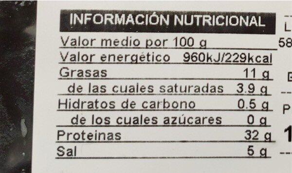 FINISMO DE JAMÓN SERTANO - Valori nutrizionali - es