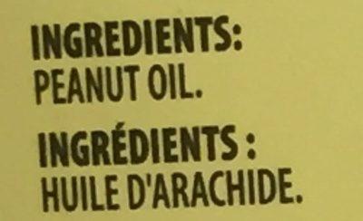 Huile d'arachide - Ingredients - fr