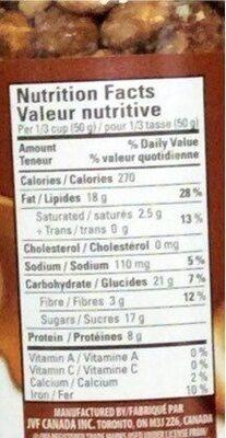 Mélange de noix pralinées - Nutrition facts - en