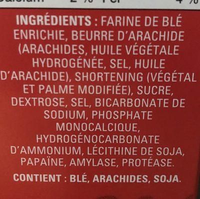 Peanut Butter Crunchy - Ingredients