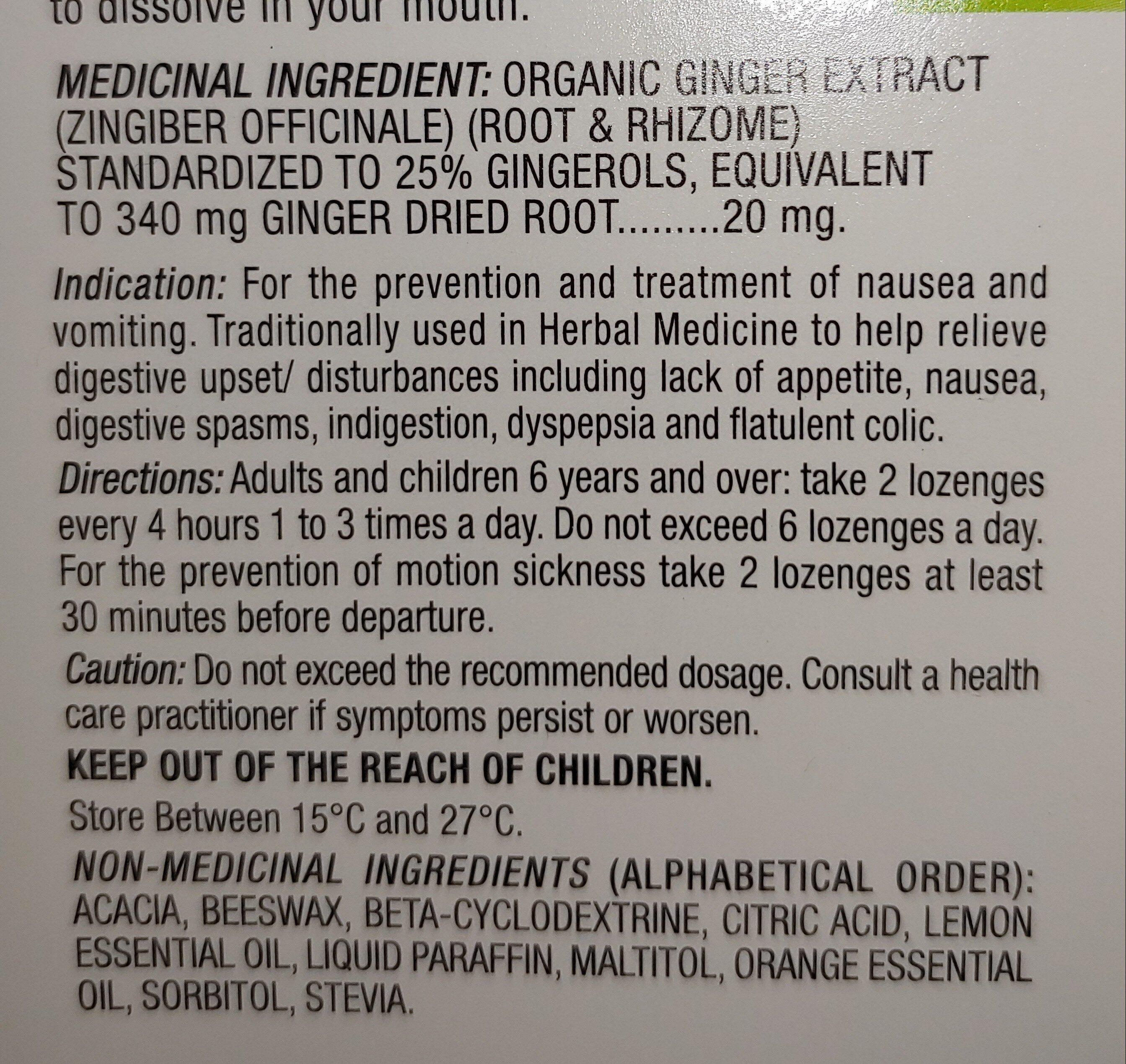 gravol ginger - Ingredients - en