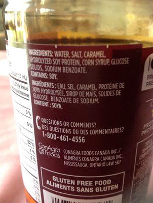 Sauce Soya (régulière) - Ingrediënten