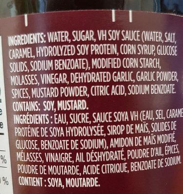 Hoisin sauce pour sauté - Ingrédients - fr