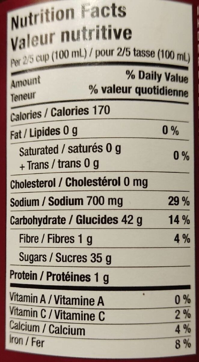 Hoisin sauce pour sauté - Informations nutritionnelles - fr