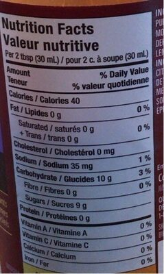 VH Sauces VH Plum Dipping Sauce - Nutrition facts - fr
