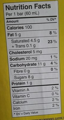 Unilever canada - Nutrition facts - fr