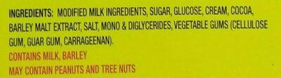 Fudge Ice Milk Bar - Ingredients