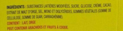 Barre de fudge - Ingrédients - fr