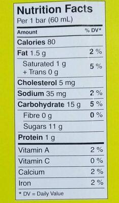 Fudge Ice Milk Bar - Nutrition facts