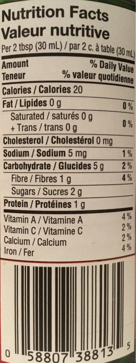 Pâte de tomates - Nutrition facts - fr