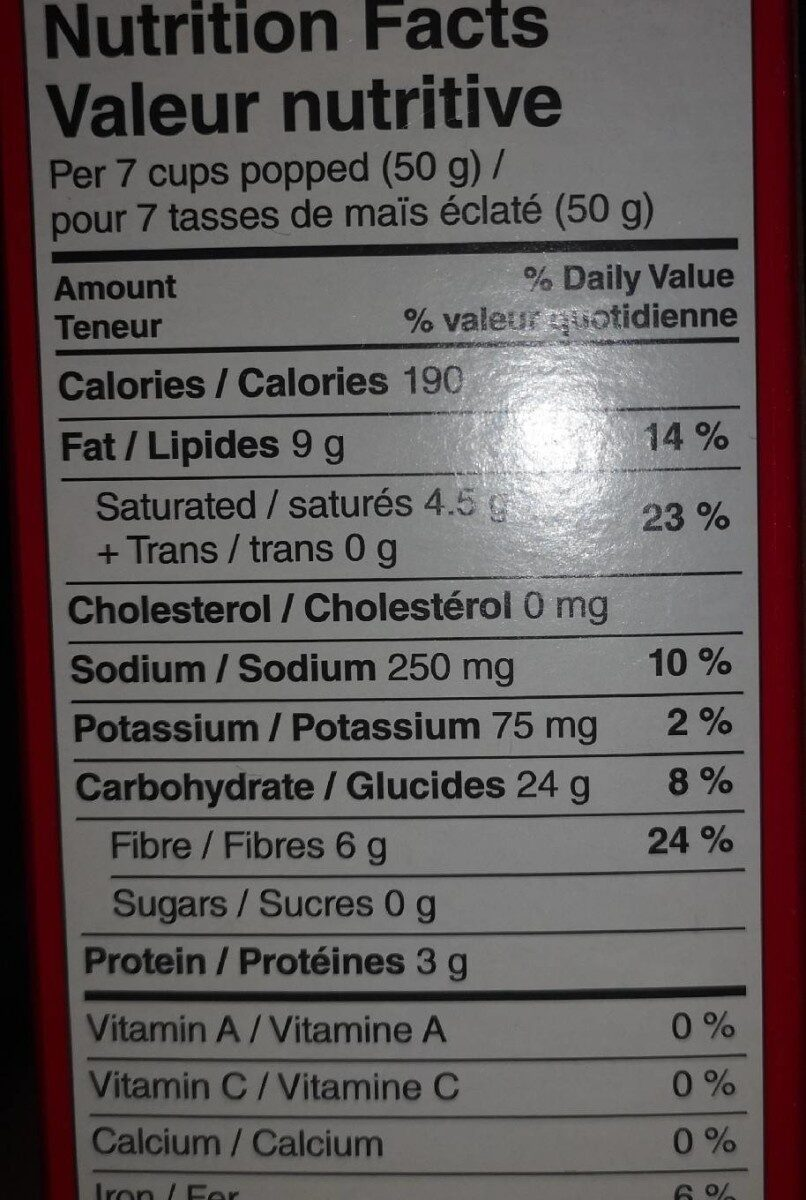Extra beurre - Nutrition facts - fr