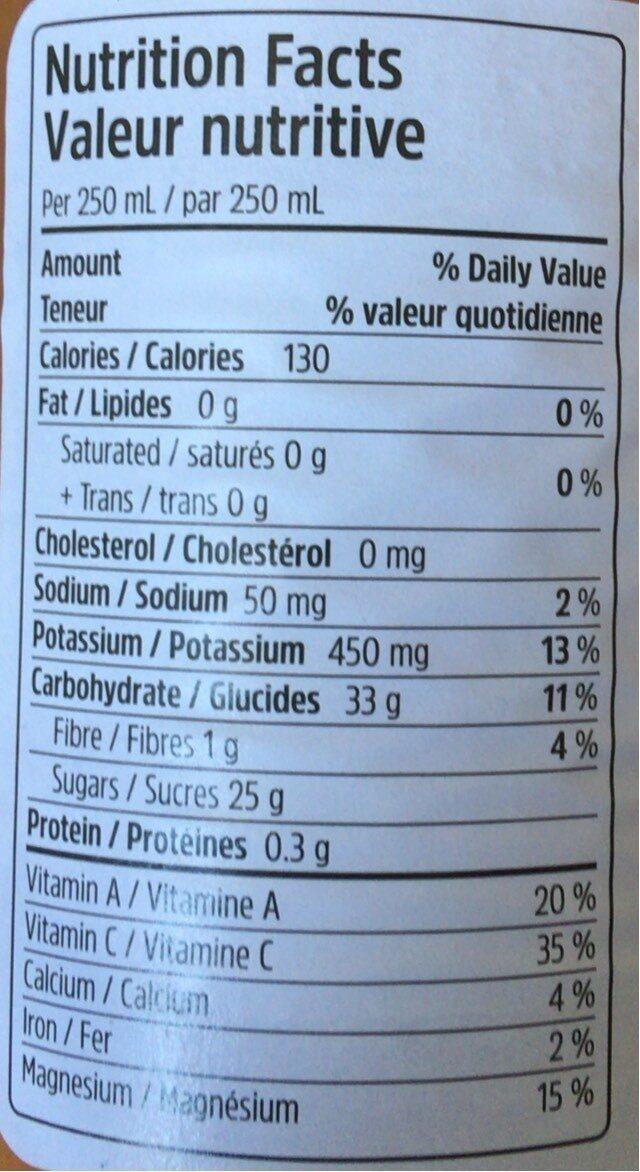 VITA 7 - Informations nutritionnelles - fr
