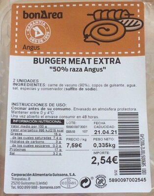 Burger meat extra - Prodotto - fr