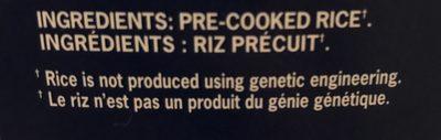 Riz Précuit - Ingrédients - fr