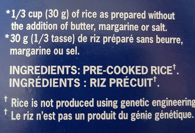 Riz - Ingrédients - fr