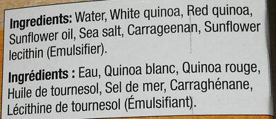 Quinoa blanc et rouge - Ingrédients - en