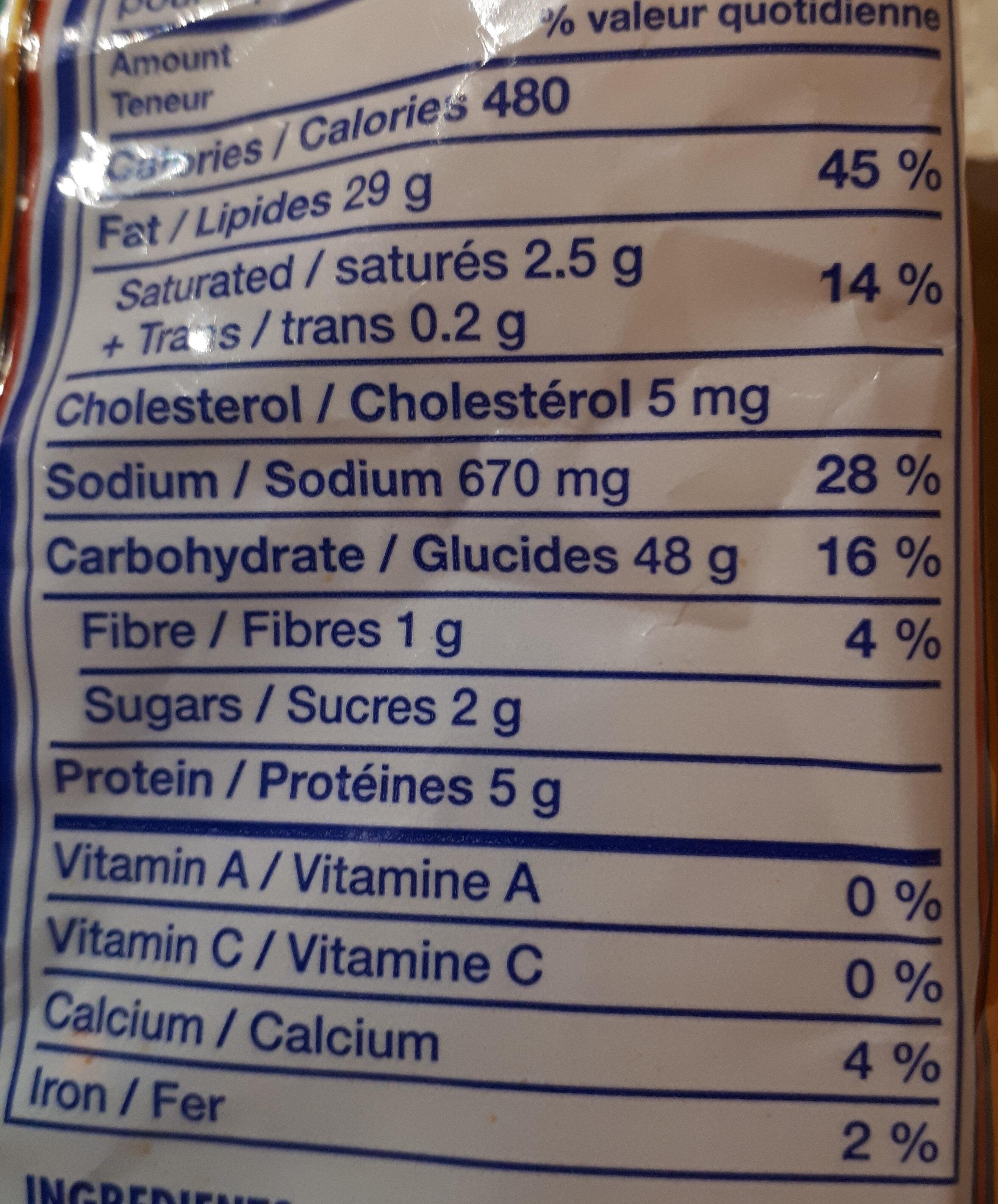 Cruncheez - Voedingswaarden - fr