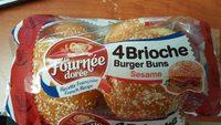 La Fournee doree Sesame Brioche Burger Buns - Product