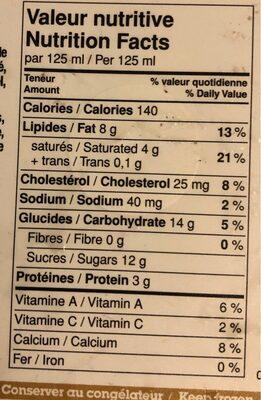 Érable et noix - Nutrition facts - fr