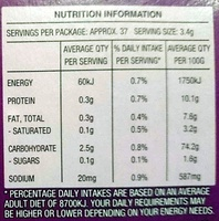 Water Crackers Cracked Pepper - Nutrition facts