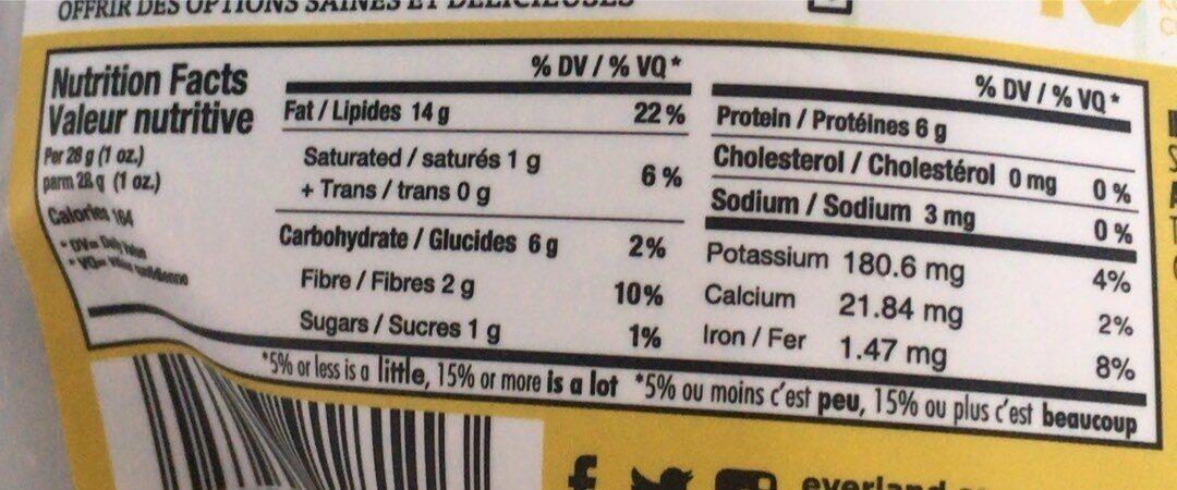 Grains de tournesol - Nutrition facts - en