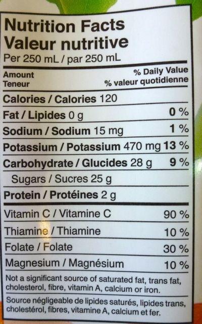 Orange Minute Maid - Voedingswaarden - en