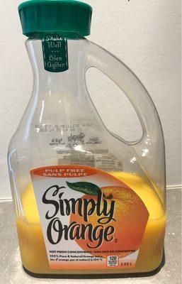 Jus D'orange 100% Sans Pulpe - Product - fr