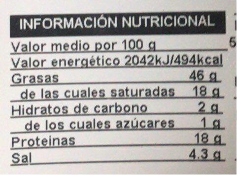 Chorizo iberico extra - Valori nutrizionali - es