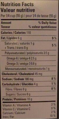 Huîtres fumées - Informations nutritionnelles - fr