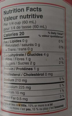 Sauce tomate - Nutrition facts - fr