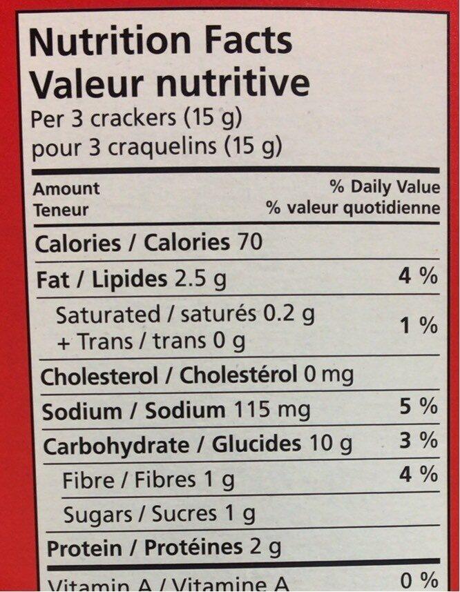 Craquelins blé grillé - Informations nutritionnelles - fr