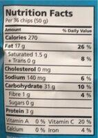 Nature moins de sel - Informations nutritionnelles - fr