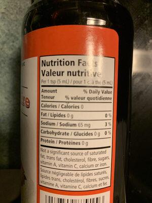 Sauce worcestershire - Informations nutritionnelles - fr