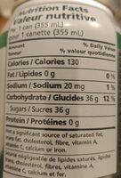 Soda gingembre - Informations nutritionnelles - en
