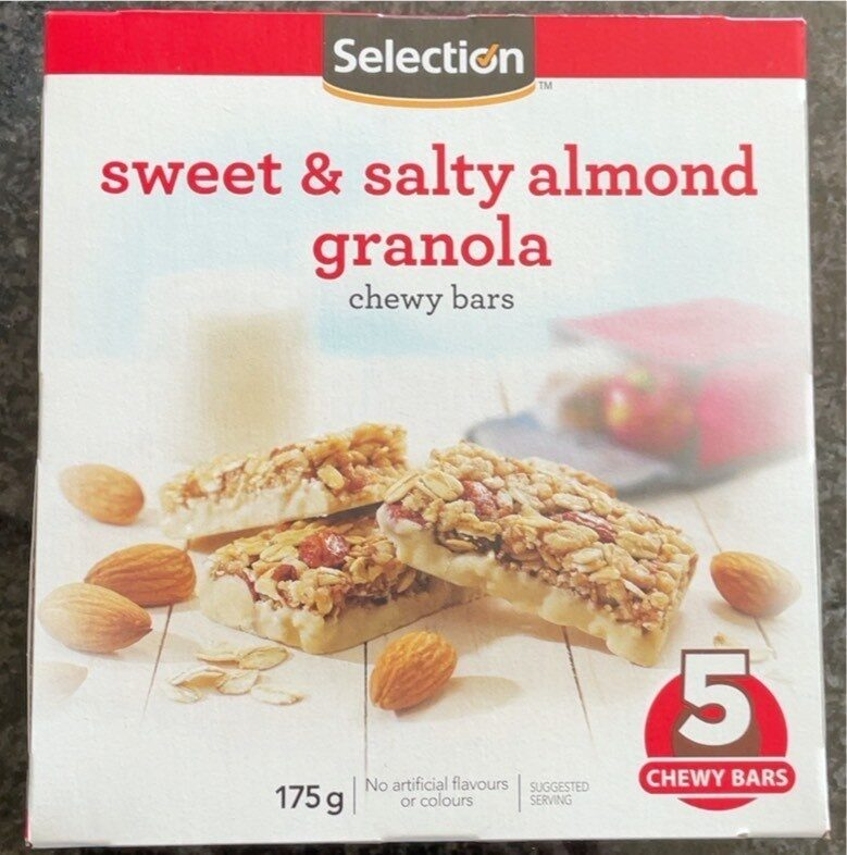 Sweet & Salty Almond Granola Chewy Bars - Product - fr