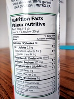 100% parmesan - Nutrition facts - fr